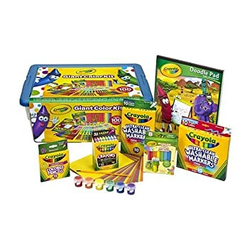 Amazon.com: Crayola GIANT COLOR KIT Exclusive- 0ver 100 pieces ...