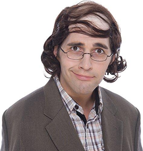 UHC Adults Comical Balding Mullet Professor Brown Wig Costume (Wig Mullet Professor)