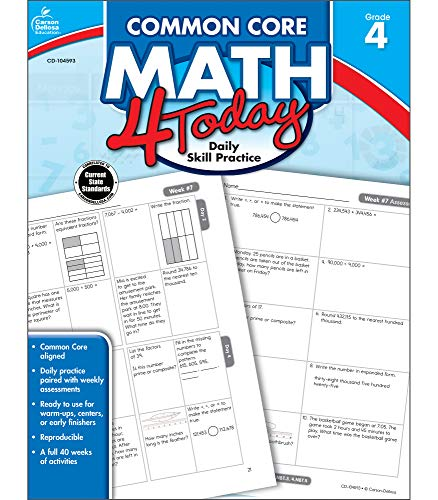 Common Core Math 4 Today, Grade 4 (Common Core 4 Today) (End Of The Year Math Review 4th Grade)
