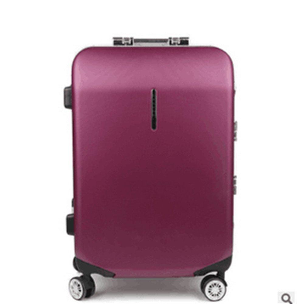 軽量スーツケース プルロッドボックス、ユニバーサルホイール、シャーシ、トランク、アルミフレーム、ハードボックス、トラベルケース、通関保証24インチ。 旅行スーツケース B07RBW6MT6