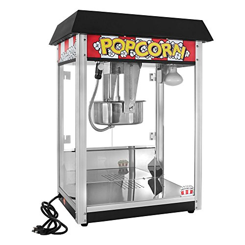 Compare Price Black Popcorn Machine With Stand On