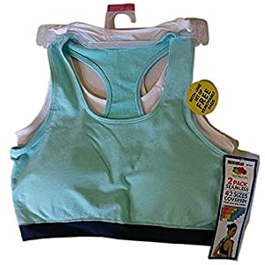 Fruit of the Loom Women's Sport Bras w/ Removable Pads Medium (2-Pack)