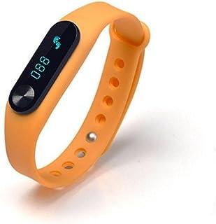 ZH Braccialetto di Frequenza Cardiaca di Smart Wear Esercitazione Monitor di Sonno del Pedometro di Salute, Orange,Orange