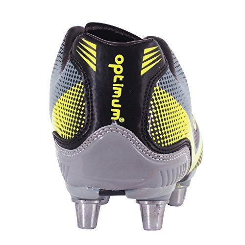 Optimum Atomik - Rugby de sintético hombre Negro - Black (Yellow/Grey)