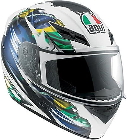 Amazon.es: AGV K3 bandera Brasil Full Face casco de moto