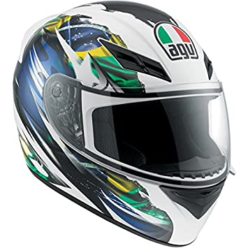 AGV K3 bandera Brasil Full Face casco de moto