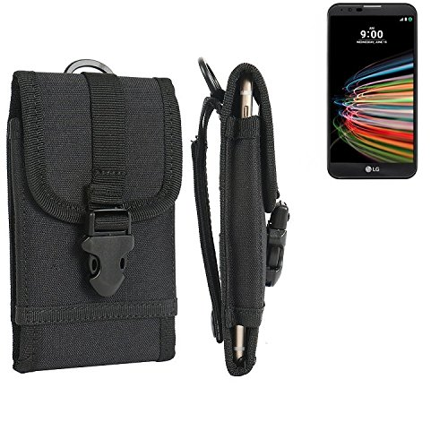 bolsa del cinturón / funda para LG Electronics X mach, negro | caja del teléfono cubierta protectora bolso - K-S-Trade (TM)