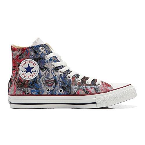 Scarpe Converse All Star Alte personalizzate (scarpe artigianali) Occhi Converse