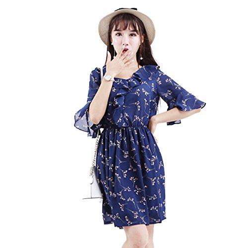 La Señorita Xia Ji Vestido De Gasa De La Cintura De Varios Colores De Varios Tamaños Blue