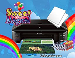 Edible Printer Bundle for Canon Wide Format Edible Ink & Edible Paper Sheets