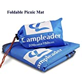 Picnic Mat, Foldable Waterproof Oxford PU Tarp Picnic BBQ Ground Sheet Lightweight Sleeping Pads Camping Blanket Mat Perfect for Picnic, Traveling, Camping, Hiking for Adults and Kids Blue