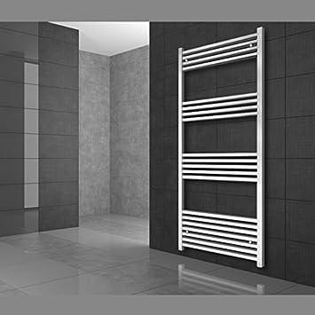 Radiador toallero 400 x 800 mm Radiador de diseño Secador de toallas Radiador recto con conexión central Color blanco: Amazon.es: Bricolaje y herramientas