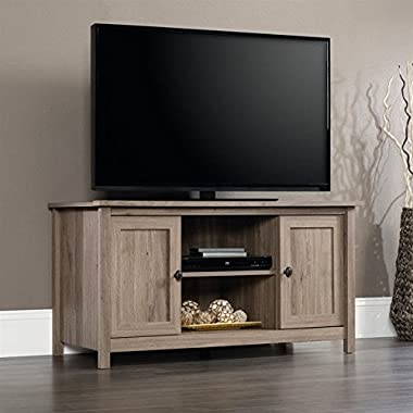 Sauder Furniture County Line Salt Oak Adjustable TV Entertainment Stand | 417772