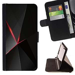 - Red & Black Polygon Pattern/ Personalizada del estilo del dise???¡¯???¡Ào de la PU Caso de encargo del cuero del tir???¡¯????n del s - Cao - For HTC