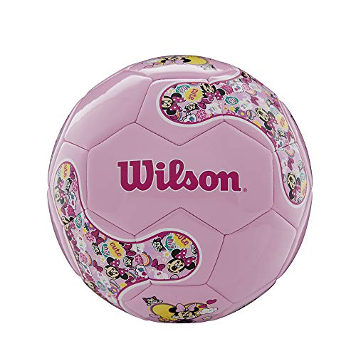 (Wilson x Disney Minnie Mouse Size 3 Soccer Ball: Smile)