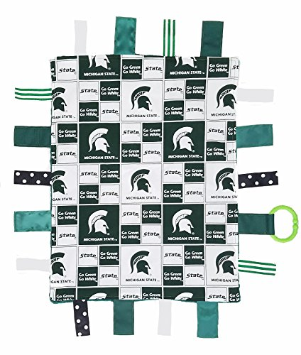 Future Tailgater Michigan State Spartan Baby Sensory Tag Lovey Blanket