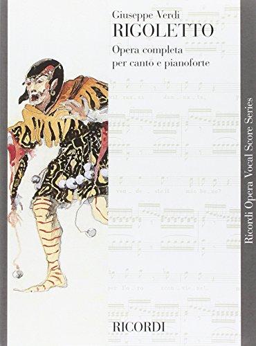 RICORDI VERDI G. - RIGOLETTO - CHANT ET PIANO Partition classique Vocale - chorale Voix solo, piano