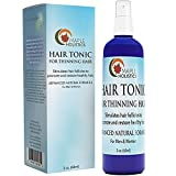 Hair Tonic for Thinning Hair - Hair Thickener for Women & Men - All Natural Hair Growth Treatment - Hair Shedding Product - Promote Healthy Hair - Advanced Formula with Argan & Tea Tree Oil (Misc.)