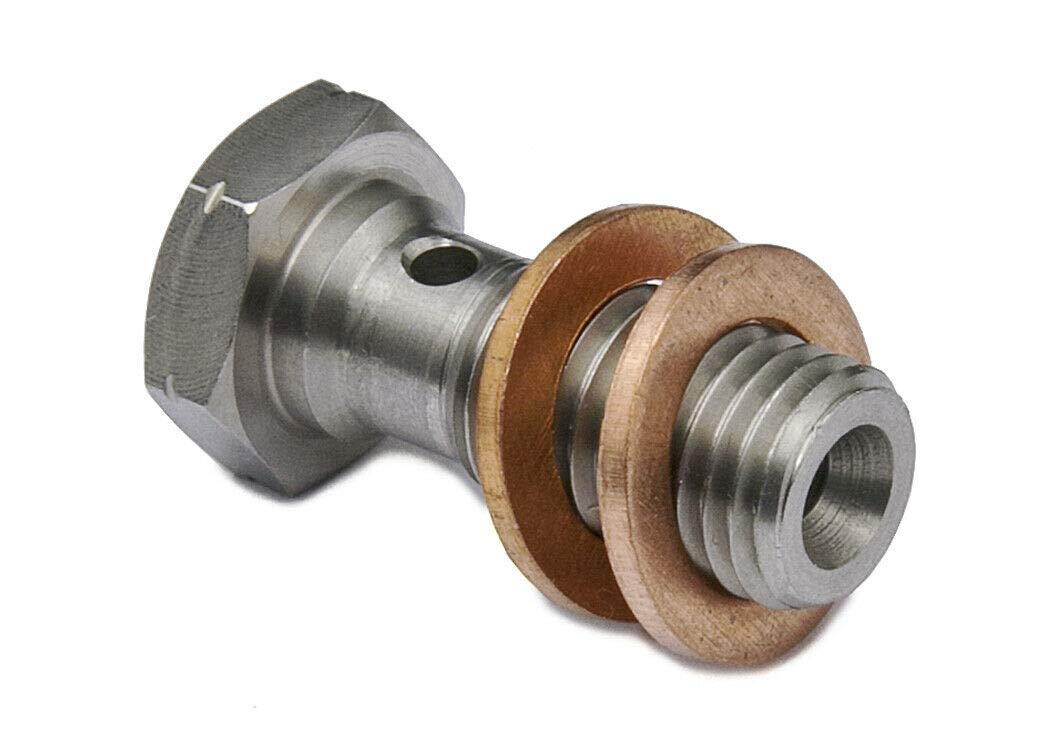 PrecisionGeek M10 x 1.5 Inox Banjo Bullone L-24mm /& Kit RONDELLE 1pz