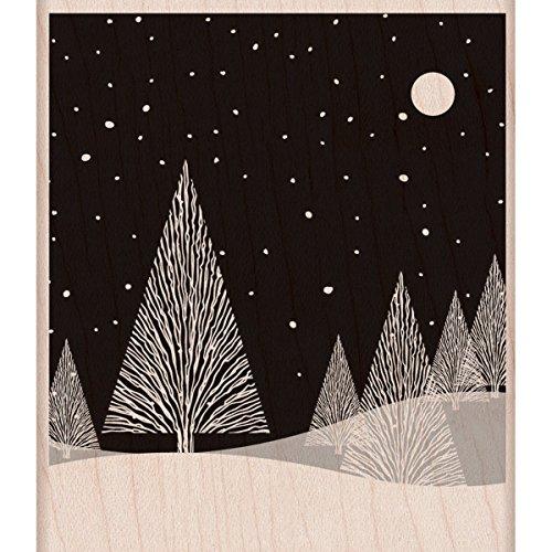 Hero Arts Rubber Stamps Winter Moon Woodblock Stamp ()