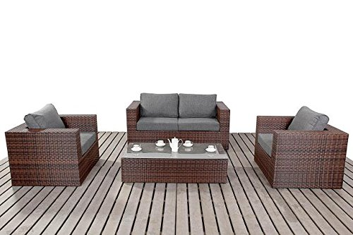 moderne kleine rattan garten sofa set 2 sitzer sofa mit 2. Black Bedroom Furniture Sets. Home Design Ideas