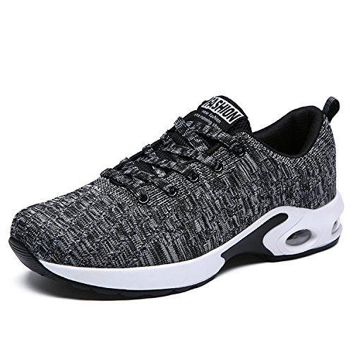 H-Mastery Mens Breathable Trainers Athletic Walking Running Gym Shoes Sporting Shoe Grey HAJ5MLY0A