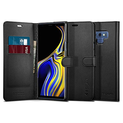 Spigen Wallet S Galaxy Note 9 Case with Foldable Cover and Kickstand Feature for Galaxy Note 9 (2018) - Black