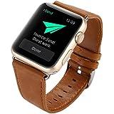 NewKelly Bracelet Leather Band Wrist Watch Strap For Apple Watch 1/2 42mm Loop Watch Band For Apple Watch 1/2 42mm Replacement Band for Apple Watch 1/2 42mm (Brown)