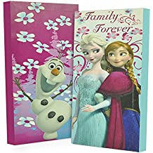 """Disney Frozen Canvas Wall Art 7"""" x 14"""" Toy (Pack of 2)"""
