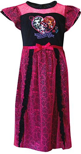 Monster High Big Girls' Dressy Gown, Pink, Medium (Monster High Dresses)
