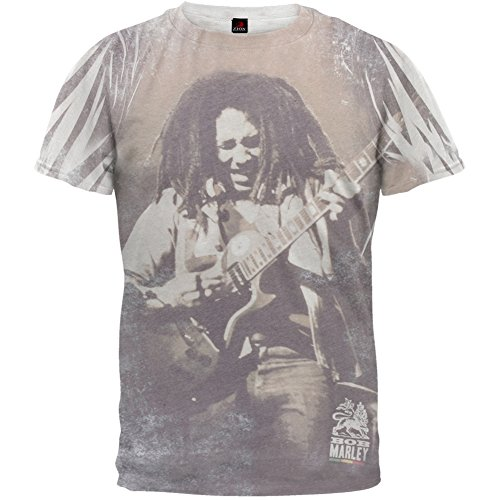 Bob Marley - Guitar All Over Soft T-Shirt - X-Large