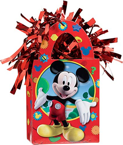 Amscan Disney Mickey Mini Tote Balloon Weight - 5.5 in. x 3 in. Each by Mick Mouse]()