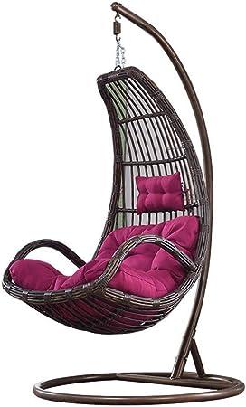 De Egg Chair.Amazon Com Huanhuanhuan Rattan Rocking Chair Wicker Waterproof