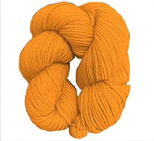 100% Organic Wool Yarn - Sport Weight - Citrus (50 Gram Skein)