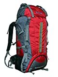 Gleam 2209 Climate Proof Mountain Trekking & Rucksack Backback 75Litres Red & Grey with Rain Cover