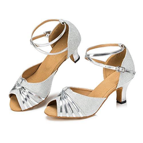 Zapatos plateado Misu para mujer wNUo30DD