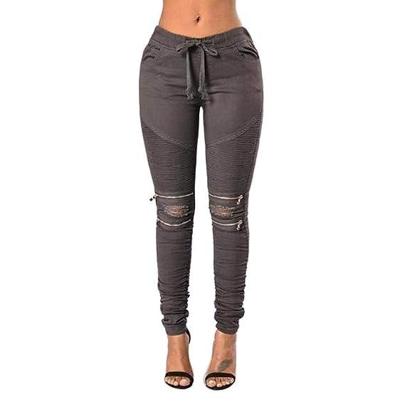 Crayon Slim Denim Skinny Jeans Pants Ripped Breal Pantalons Fit WDYH29IE