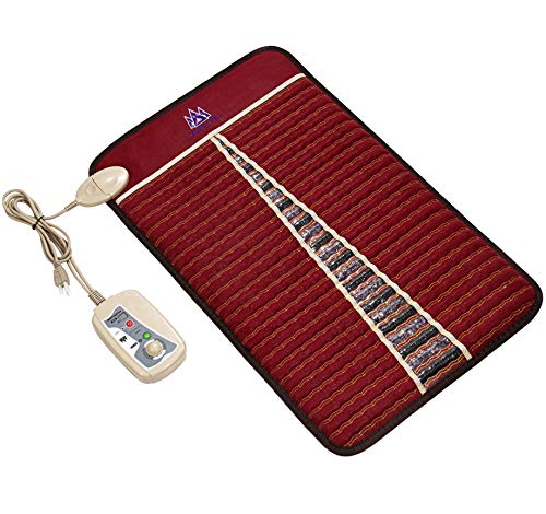 New Heating pad MediCrystal Far Infrared Amethyst Tourmaline Mat – Natural Crushed Crystals – Negative Ions – Adjustable Warmth – Deep FIR Heat – FDA Registered Manufacturer 2019