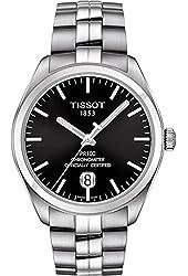 Tissot Men's Steel Bracelet & Case Automatic Black Dial Analog Watch T1014081105100