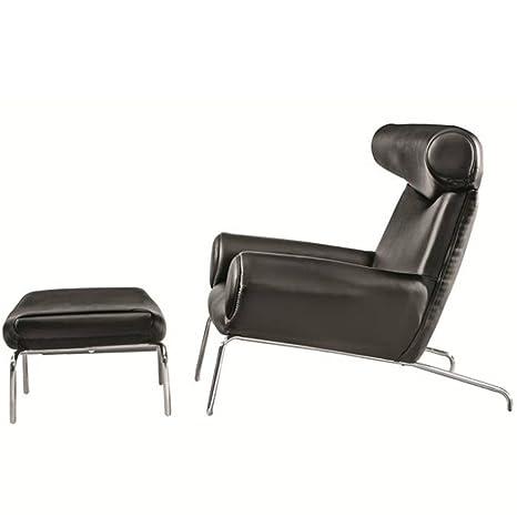 Amazon.com: lemoderno Hansen Ox silla y otomana, Cuero ...