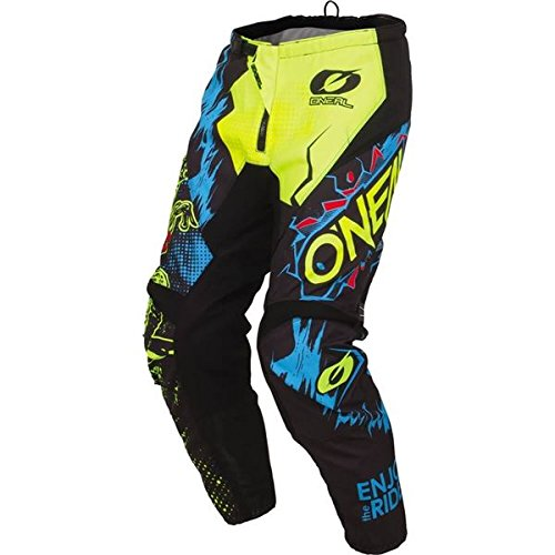O'Neal Racing Element Wild Men's MX Motorcycle Pants - Black/Multi / Size 30 (Oneal Boots Motorcycle)