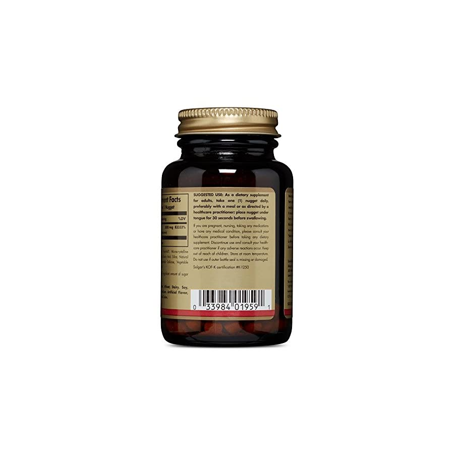 Solgar Methylcobalamin Vitamin B12 5000 mcg.