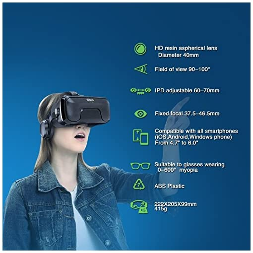 6f258b88e11a ETVR 3D VR Glasses Virtual Reality Headset for 3D Movies   VR Games with Stereo  Adjustable Headphone ...