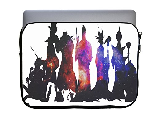 Villains United Silhouettes Artwork 13x10 inch Neoprene Zippered Laptop Sleeve Bag by Trendy Accessories for Macbook or any other -