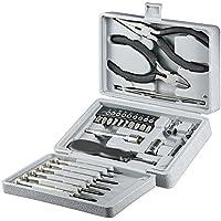 Fixpoint 77093 Werkzeug Klappbox 25-teiliges Feinmechaniker Set Schraubendreher, Seitenschneider, Steckschlüssel, Bits