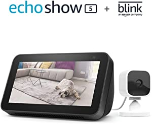 All-new Echo Show 5 (2nd Gen, 2021 release) - Charcoal bundle with Blink Mini