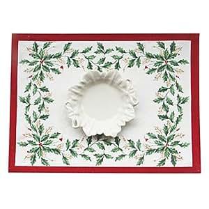 CH y CH Navidad muérdagos poliéster algodón mantel, 35,5 * 48 cm (14,2 * 19 Pulgada)