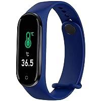 LUOLENG M5pro Smart Band Fitness Tracker Reloj termómetro con frecuencia cardíaca y Monitor de sueño, Pulsera…