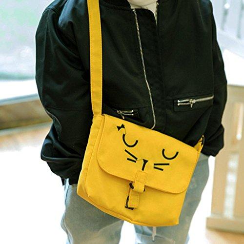 Shoulder Yellow Messenger Casual Baby Kids Cartoon Children Girls Canvas Bags Everpert vpPzqwn