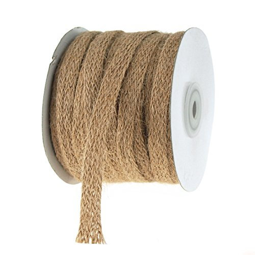 Jute Trim (Homeford FKT0RAJ11012 Jute Rope Braid 25 yd Ribbon, 3/8